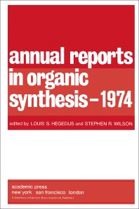 Cover image for Annual Reports in Organic Synthesis — 1974