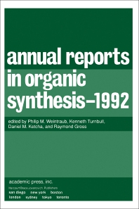 Cover image for Annual Reports in Organic Synthesis 1992