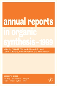 Annual Reports in Organic Synthesis 1999, 1st Edition,Philip Weintraub,Daniel Ketcha,Christian Fossum,Allan Pinhas,ISBN9780120408290