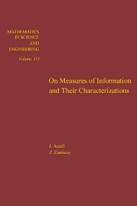 Cover image for On Measures of Information and Their Characterizations