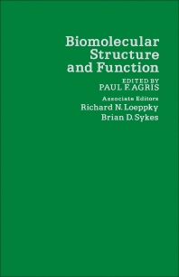 Biomolecular Structure and Function - 1st Edition - ISBN: 9780120439508, 9780323144124