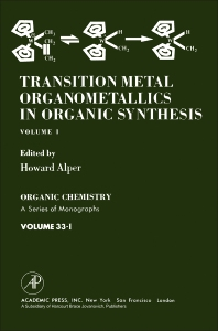Cover image for Transition metal Organometallics In Organic Synthesis