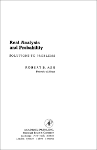 Real Analysis and Probability - 1st Edition - ISBN: 9780120652402, 9781483216188