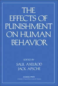 Cover image for Effects of Punishment on Human Behavior