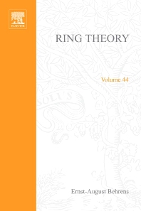 Ring Theory - 1st Edition - ISBN: 9780120852505, 9780080873572