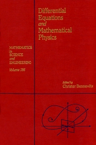 Cover image for Differential Equations and Mathematical Physics: Proceedings of the International Conference held at the University of Alabama at Birmingham, March 15-21, 1990