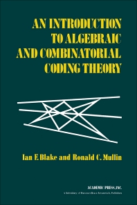 Cover image for An Introduction to Algebraic and Combinatorial Coding Theory