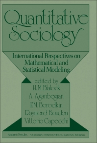 Quantitative Sociology - 1st Edition - ISBN: 9780121039509, 9781483288185