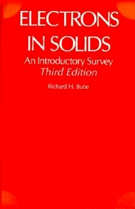 Electrons in Solids, 3rd Edition,Richard Bube,ISBN9780121385538