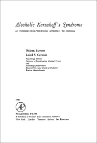 Alcoholic Korsakoff's Syndrome - 1st Edition - ISBN: 9780121483807, 9781483216867