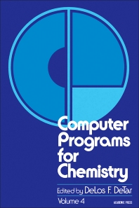 Computer Programs for Chemistry - 1st Edition - ISBN: 9780121515041, 9780323156615