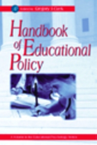 Cover image for Handbook of Educational Policy