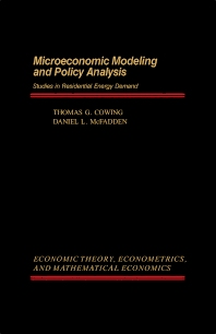 Microeconomic Modeling and Policy Analysis - 1st Edition - ISBN: 9780121940607, 9781483268491