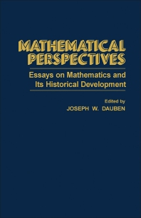 Mathematical Perspectives - 1st Edition - ISBN: 9780122040504, 9781483262574