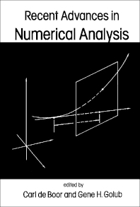 Recent Advances in Numerical Analysis - 1st Edition - ISBN: 9780122083600, 9781483267111