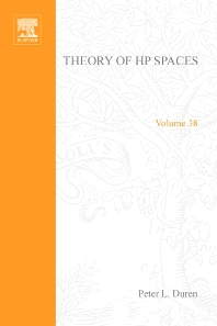 Theory of H[superscript p] spaces - 1st Edition - ISBN: 9780122251504, 9780080873510