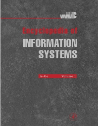 Encyclopedia of Information Systems, Four-Volume Set, 1st Edition,Hossein Bidgoli,ISBN9780122272400