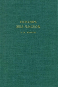 Cover image for RiemannÆs zeta function
