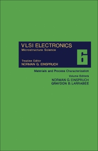 Materials and Process Characterization - 1st Edition - ISBN: 9780122341069, 9781483217734