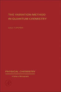 The variation method in quantum chemistry - 1st Edition - ISBN: 9780122405501, 9780323157476