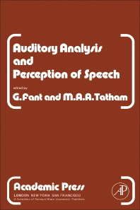 Auditory Analysis and Perception of Speech - 1st Edition - ISBN: 9780122485503, 9780323145480