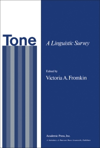Tone - 1st Edition - ISBN: 9780122673504, 9781483273761