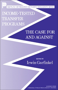 Income-Tested Transfer Programs - 1st Edition - ISBN: 9780122758805, 9781483260495