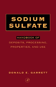 Sodium Sulfate - 1st Edition - ISBN: 9780122761515, 9780080517339