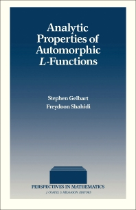Analytic Properties of Automorphic L-Functions - 1st Edition - ISBN: 9780122791758, 9781483261034