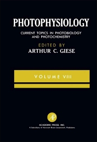 Photophysiology - 1st Edition - ISBN: 9780122826085, 9781483262208