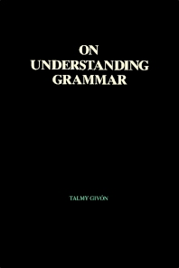 Cover image for On Understanding Grammar