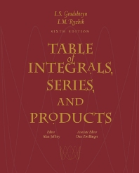 Table of Integrals, Series, and Products - 6th Edition - ISBN: 9780122947575, 9780080542225