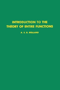 Introduction to the Theory of Entire Functions - 1st Edition - ISBN: 9780123527509, 9780080873718