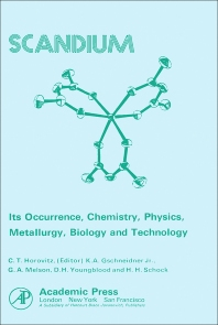Scandium Its Occurrence, Chemistry Physics, Metallurgy, Biology and Technology - 1st Edition - ISBN: 9780123558503, 9780323144513