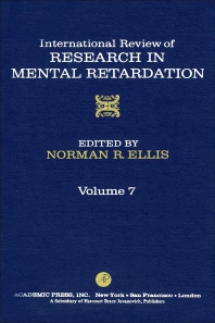 International Review of Research in Mental Retardation - 1st Edition - ISBN: 9780123662071, 9780080857855