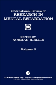 International Review of Research in Mental Retardation - 1st Edition - ISBN: 9780123662088, 9780080857862