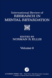 International Review of Research in Mental Retardation - 1st Edition - ISBN: 9780123662095, 9780080857879