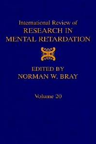 International Review of Research in Mental Retardation, 1st Edition,Norman Bray,ISBN9780123662200