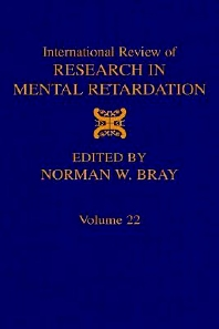 Cover image for International Review of Research in Mental Retardation