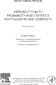 Cover image for Introduction to Probability and Statistics for Engineers and Scientists, Student Solutions Manual