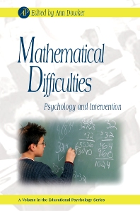 Mathematical Difficulties, 1st Edition,Gary Phye,Ann Dowker,ISBN9780123736291