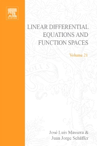 Linear differential equations and function spaces - 1st Edition - ISBN: 9780123745682, 9780080873336