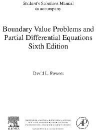 Cover image for Student Solutions Manual, Boundary Value Problems