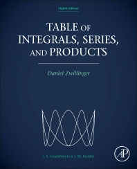 Table of Integrals, Series, and Products, 8th Edition,Daniel Zwillinger,ISBN9780123849335