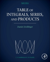 Table of Integrals, Series, and Products, 8th Edition,Daniel Zwillinger,ISBN9780123849342