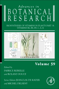 Cover image for Biosynthesis of Vitamins in Plants Part B