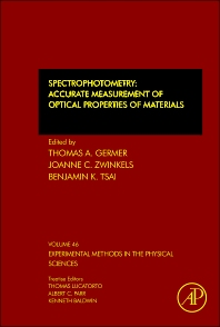 Spectrophotometry - 1st Edition - ISBN: 9780123860224, 9780123860231
