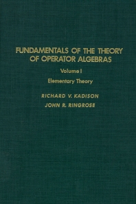Cover image for Fundamentals of the Theory of Operator Algebras. V1