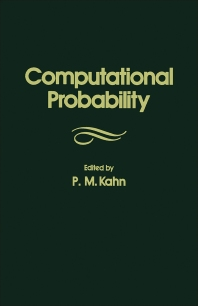 Computational Probability - 1st Edition - ISBN: 9780123946805, 9781483273617
