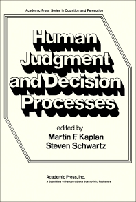 Cover image for Human Judgement and Decision Processes